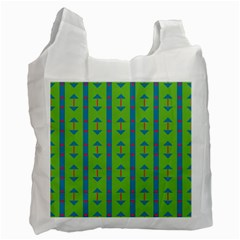 Arrows And Stripes Pattern			recycle Bag (one Side)