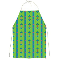Arrows And Stripes Pattern			full Print Apron