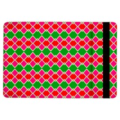 Red Pink Green Rhombus Pattern			apple Ipad Air Flip Case by LalyLauraFLM