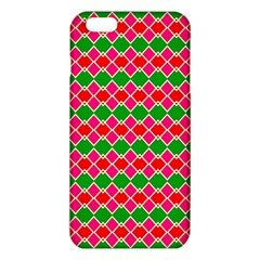 Red Pink Green Rhombus Pattern			iphone 6 Plus/6s Plus Tpu Case by LalyLauraFLM