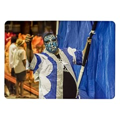 Painted Face Man At Inagural Parade Of Carnival In Montevideo Samsung Galaxy Tab 10 1  P7500 Flip Case by dflcprints