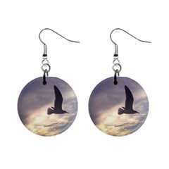 Fly Seagull Mini Button Earrings by Jamboo