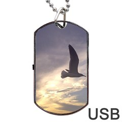 Fly Seagull Dog Tag Usb Flash (two Sides)  by Jamboo