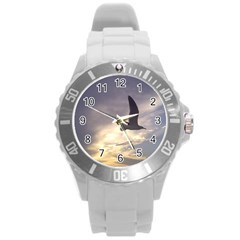 Fly Seagull Round Plastic Sport Watch (l) by Jamboo