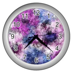 Shabby Floral 2 Wall Clocks (silver)  by MoreColorsinLife