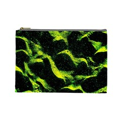 Green Northern Lights Cosmetic Bag (large)  by Costasonlineshop