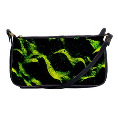 Green Northern Lights Shoulder Clutch Bags by Costasonlineshop