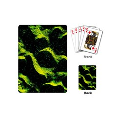 Green Northern Lights Playing Cards (mini)  by Costasonlineshop