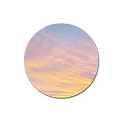 Yellow Blue Pastel Sky Magnet 3  (round) by Costasonlineshop