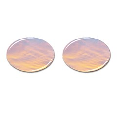 Yellow Blue Pastel Sky Cufflinks (oval) by Costasonlineshop