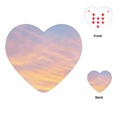 Yellow Blue Pastel Sky Playing Cards (heart)  by Costasonlineshop