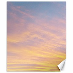 Yellow Blue Pastel Sky Canvas 8  X 10  by Costasonlineshop
