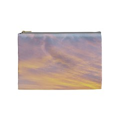 Yellow Blue Pastel Sky Cosmetic Bag (medium)  by Costasonlineshop