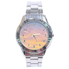 Yellow Blue Pastel Sky Stainless Steel Men s Watch by Costasonlineshop