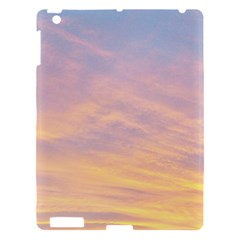 Yellow Blue Pastel Sky Apple Ipad 3/4 Hardshell Case by Costasonlineshop