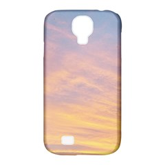 Yellow Blue Pastel Sky Samsung Galaxy S4 Classic Hardshell Case (pc+silicone) by Costasonlineshop