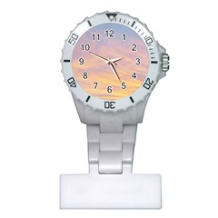 Yellow Blue Pastel Sky Nurses Watches by Costasonlineshop