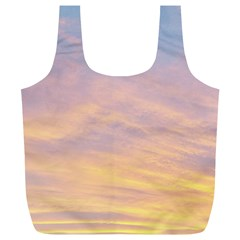 Yellow Blue Pastel Sky Full Print Recycle Bags (l)  by Costasonlineshop