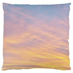 Yellow Blue Pastel Sky Standard Flano Cushion Cases (two Sides)  by Costasonlineshop