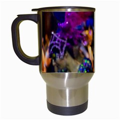 Costumed Attractive Dancer Woman At Carnival Parade Of Uruguay Travel Mugs (white) by dflcprints