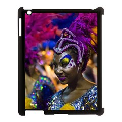 Costumed Attractive Dancer Woman At Carnival Parade Of Uruguay Apple Ipad 3/4 Case (black) by dflcprints