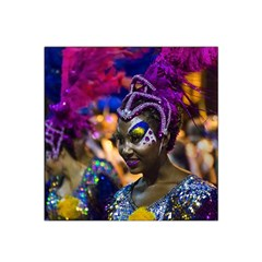 Costumed Attractive Dancer Woman At Carnival Parade Of Uruguay Satin Bandana Scarf by dflcprints