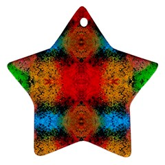 Colorful Goa   Painting Ornament (star)  by Costasonlineshop