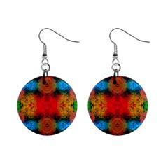 Colorful Goa   Painting Mini Button Earrings by Costasonlineshop