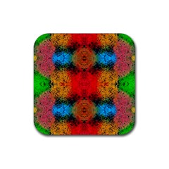 Colorful Goa   Painting Rubber Square Coaster (4 Pack)  by Costasonlineshop