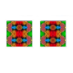 Colorful Goa   Painting Cufflinks (square)