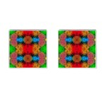 Colorful Goa   Painting Cufflinks (Square) Front