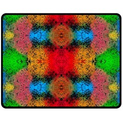 Colorful Goa   Painting Fleece Blanket (medium)  by Costasonlineshop