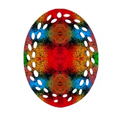 Colorful Goa   Painting Ornament (oval Filigree)  by Costasonlineshop
