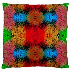 Colorful Goa   Painting Large Cushion Cases (one Side)  by Costasonlineshop