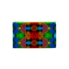 Colorful Goa   Painting Cosmetic Bag (xs) by Costasonlineshop