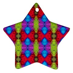 Colorful Painting Goa Pattern Ornament (star)  by Costasonlineshop
