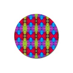 Colorful Painting Goa Pattern Magnet 3  (round) by Costasonlineshop