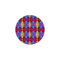 Colorful Painting Goa Pattern Golf Ball Marker (10 Pack) by Costasonlineshop