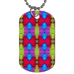 Colorful Painting Goa Pattern Dog Tag (two Sides) by Costasonlineshop