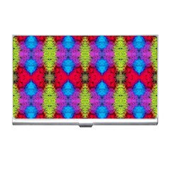 Colorful Painting Goa Pattern Business Card Holders by Costasonlineshop