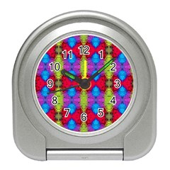 Colorful Painting Goa Pattern Travel Alarm Clocks by Costasonlineshop