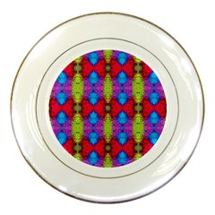 Colorful Painting Goa Pattern Porcelain Plates by Costasonlineshop
