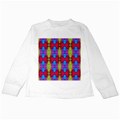 Colorful Painting Goa Pattern Kids Long Sleeve T Shirts by Costasonlineshop