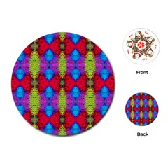 Colorful Painting Goa Pattern Playing Cards (round)  by Costasonlineshop