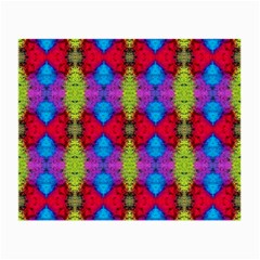 Colorful Painting Goa Pattern Small Glasses Cloth (2 Side) by Costasonlineshop