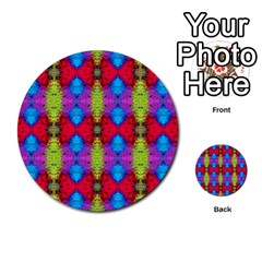 Colorful Painting Goa Pattern Multi Purpose Cards (round)  by Costasonlineshop
