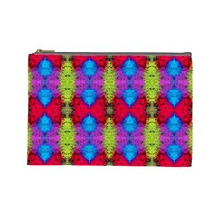 Colorful Painting Goa Pattern Cosmetic Bag (large)  by Costasonlineshop