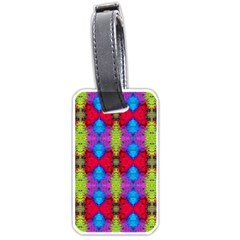 Colorful Painting Goa Pattern Luggage Tags (two Sides) by Costasonlineshop