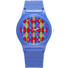 Colorful Painting Goa Pattern Round Plastic Sport Watch (s) by Costasonlineshop