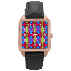 Colorful Painting Goa Pattern Rose Gold Watches by Costasonlineshop